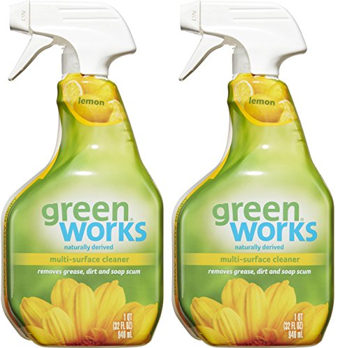 Cleaner Green Little (Green Works All-Purpose Cleaner - 98% Naturally Derived - Simply Lemon , Pack of 2, 64 fl oz Total)