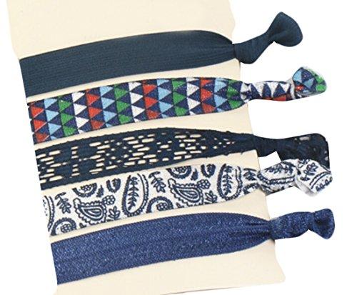GAGA Kenz Laurenz Elastic Ribbon Ponytail Holders Hair Bands 1 ()