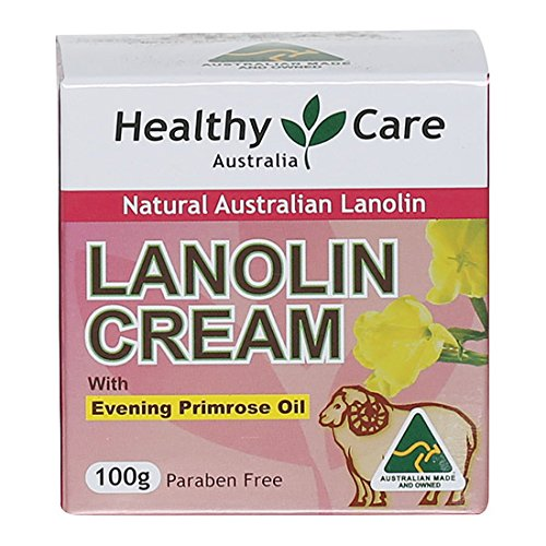 Healthy Care Lanolin Cream with Evening Primrose Oil 100g made in Australia (Best Eczema Cream Australia)