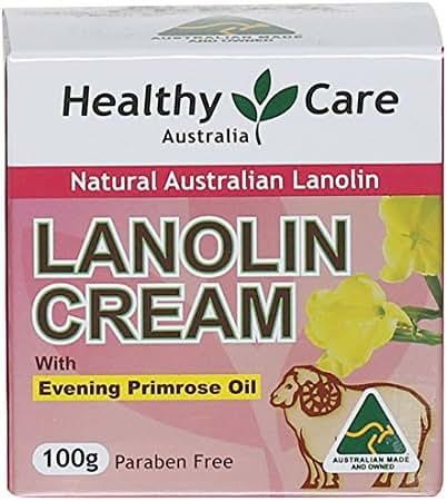 Healthy Care Lanolin Cream with Evening Primrose Oil 100g made in Australia