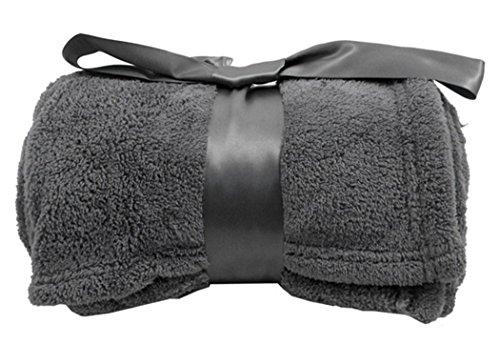 """Warm all Season Plush Easy Care Blanket w/ Bow 42"""" x 60"""", Ch"""