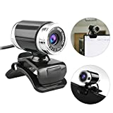EEEKit Webcam USB 12 Megapixel HD Pro Widescreen Video Full 1080p Camera, Built in Microphone and Stand for Windows PC, Laptops and Apple OS X