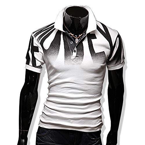 KMAZN ポロシャツ メンズ Tシャツ 半袖 襟付き ロンT かっこいい おしゃれ スポーツカジュアル 春 夏 秋 ゴルフ メンズ