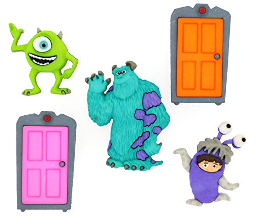 ney Button Embellishments, Monsters Inc (Boo Buttons)