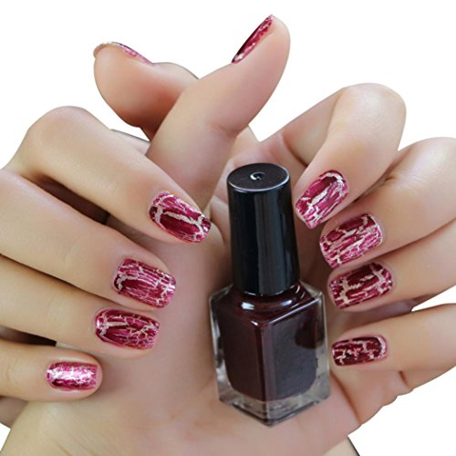 Nail Polish Set ,Vanvler 3 pcs Cracked Nail Shatter Resin Nail Polishes ,Included Base Set (4#) (Shatter Lacquer Nail)