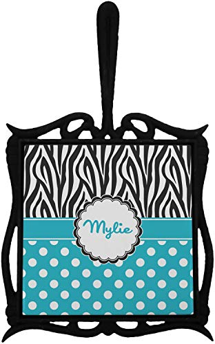 Dots & Zebra Trivet with Handle (Personalized)