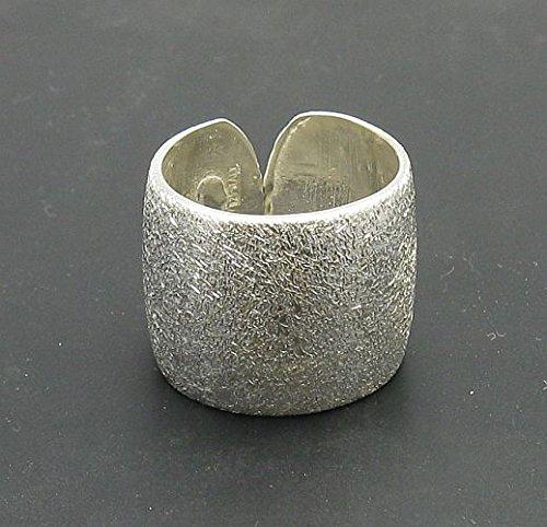 Anello fascia in Argento 925 banda largalaser finito R000754