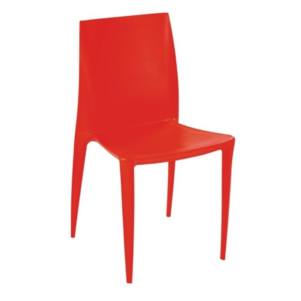 Modern Contemporary Dining Chair, Orange, Plastic