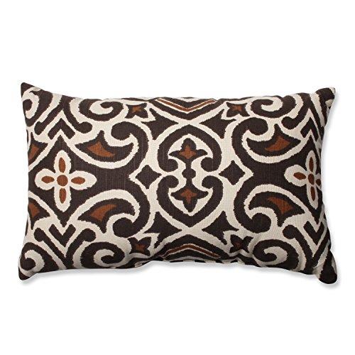 Pillow Perfect Damask Rectangular Throw Pillow, Brown/Beige ()
