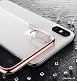 Cover per iPhone XS Max 2018 6.5 pollici, Sottile, TPU Trasparente Antiurti con Colore Cromato, Custodia Morbida e Resistente, Raffinato (Oro Rosa)