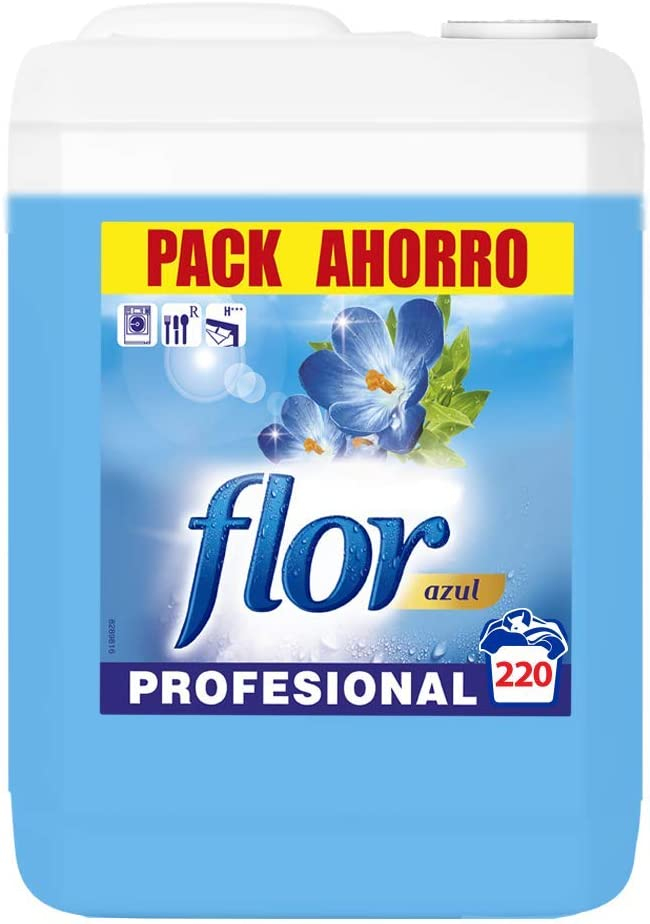 Flor Suavizante para Lavadora Regular Azul Formato Profesional ...