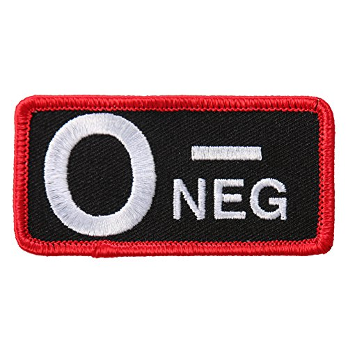 Hot Leathers Unisex-Adult Blood Type O Neg Patch (Multicolor, 3