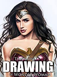 Clip: Time Lapse Drawing of Wonder Woman