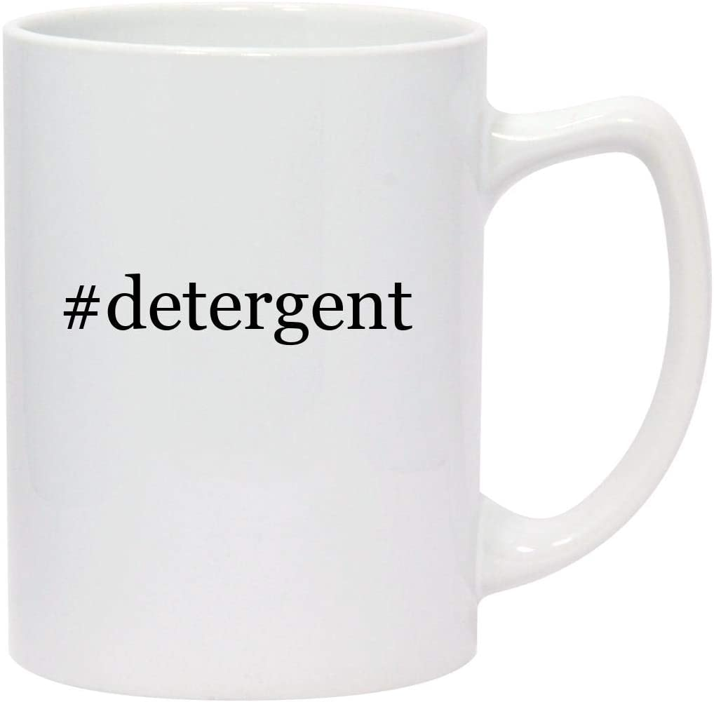 #detergent - 14oz Hashtag White Ceramic Statesman Coffee Mug