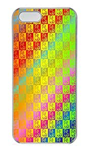 ICORER Unique iPhone 5S Case and Cover Puppy Pattern Polycarbonate Plastic Case Cover for Apple iPhone 5 5s Transparent