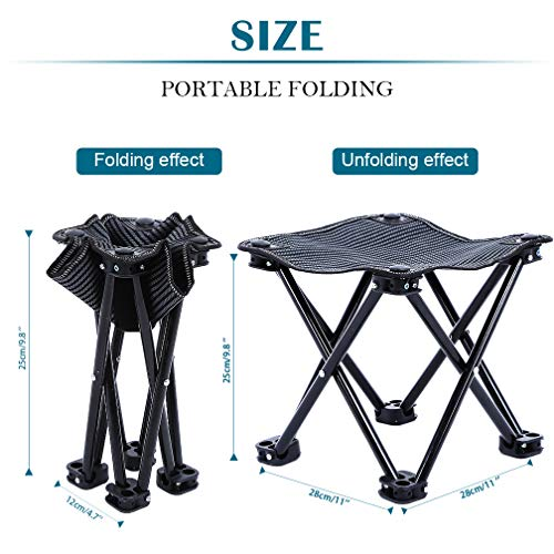 FairyMe Small Folding Chair Portable Camp Stool for Camping,Hiking,Fishing Travelling,Gardening,Beach Chairs by FairyMe (Image #1)
