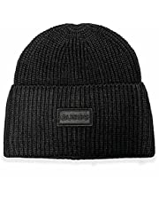 GUESS Męska czapka z logo z przodu, Czarny, Jeden rozmiar