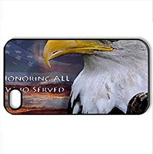 memorialday-7 - Case Cover for iPhone 4 and 4s (Monuments Series, Watercolor style, Black)