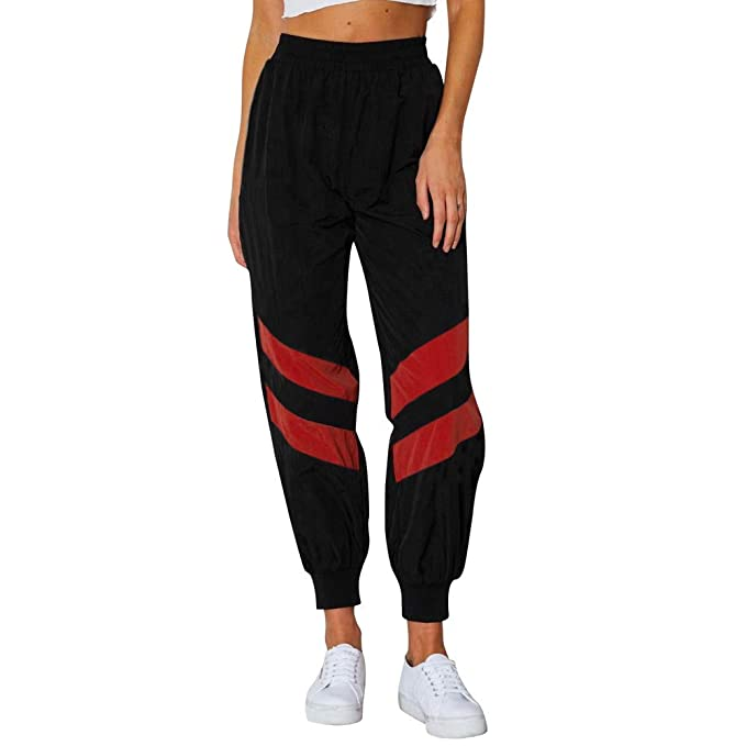 Amazon.com: Minisoya - Pantalón deportivo para mujer a rayas ...