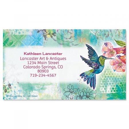 Calling Set Card (Joyful Hummingbird Bussiness cards - Set of 250 2