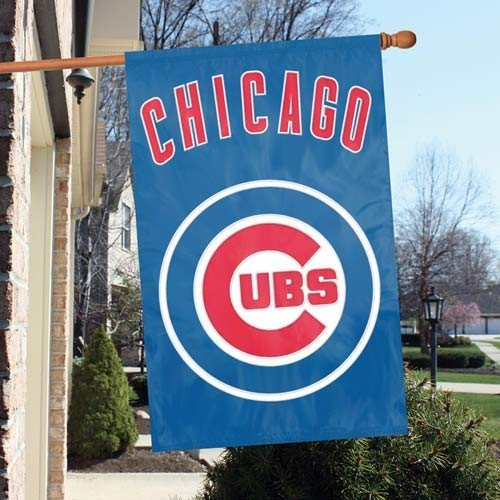 Party Animal Official Major League Baseball Fan Shop Authentic MLB Team Sports Man Cave Flag - Banner (Chicago Cubs)