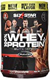 Six Star Pro Nutrition 100% Whey Protein Plus, 64g total protein per 2 scoops Ultra-Pure Whey Protein Powder, Triple Chocolate, 2 Pound (Packaging May Vary)