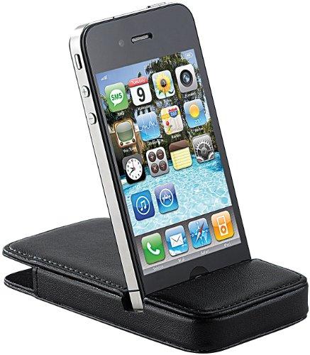 Xcase Hülle iPhone 4: Elegante 2in1-Schutztasche mit Standfunktion für iPhone 4/4s, schwarz (iPhone 4s Schutzhülle)