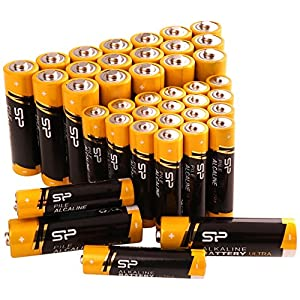 Silicon Power 40 Count Value Combo Pack Ultra Alkaline Batteries, 20 AA & 20 AAA (SUAL23ABAT40SV1KAM)