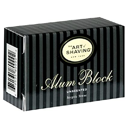 Parker Safety Razors 125G Alum Block with Travel Case - A Natural Aftershave with Antiseptic Properties