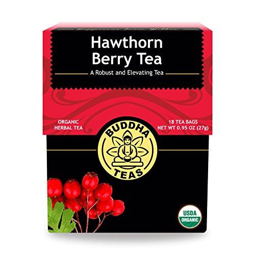 Organic Hawthorn Berry Tea - 18 Bleach-Free Tea Bags - Caffeine-Free Tea with an Herbal Flavor and Digestion Aiding Properties, Kosher, GMO-Free