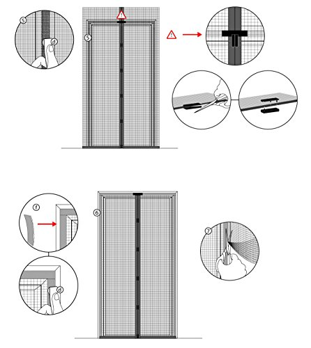 17 99 jarolift moustiquaire rideau magntique pour portes 160 x 230cm blanche individuellement. Black Bedroom Furniture Sets. Home Design Ideas