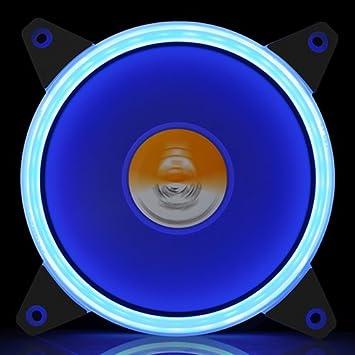 GOLDEN FIELD Solar Halo Ultra Quiet Lager 120mm LED L/üfter f/ür PC Computer Desktop-Geh/äuse CPU K/ühler Mehrfarbig