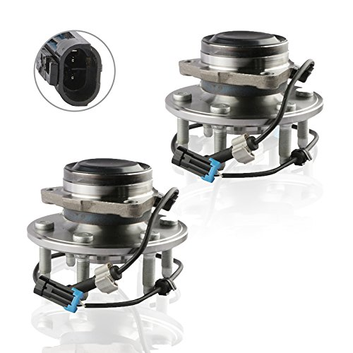 MOSTPLUS Wheel Bearing Hub Front or Rear Wheel Hub and Bearing Assembly 515054X2 for Chevy Cadillac GMC RWD With ABS 6 Lug (Set of 2)