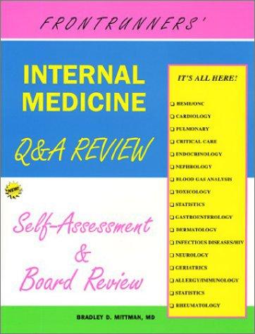 Read Online Frontrunners' Internal Medicine Q & A review: Self-assessment & Board Review, 3rd Edition ebook