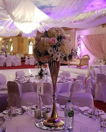 Amazon Everbon Set Of 10 27 Inches Tall White Silver Wedding