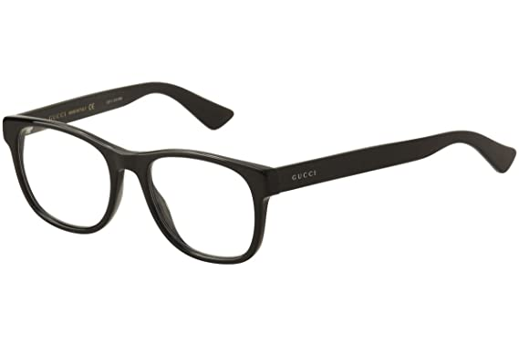 3f451eae6e Amazon.com  Gucci - GG0004O-001 Optical Frame ACETATE  Clothing