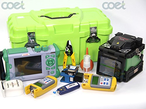 Arc Fault Tester - ARC Fusion Splicer Kit KOMSHINE GX36 w/ 9 Languages + QX50-MS2 850/1300+1310/1550nm 21/19/30/28dB OTDR Tester +Fiber Optic Power Meter + Optic Fiber Light Source + Visual Fault Locator/ VFL