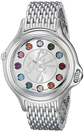 Fendi Women's F105036000T05 Crazy Carats Analog Display Swiss Quartz Silver Watch