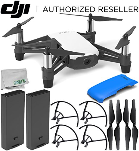 Ryze Tech Tello Quadcopter with Blue Snap-On Cover Essential Kit