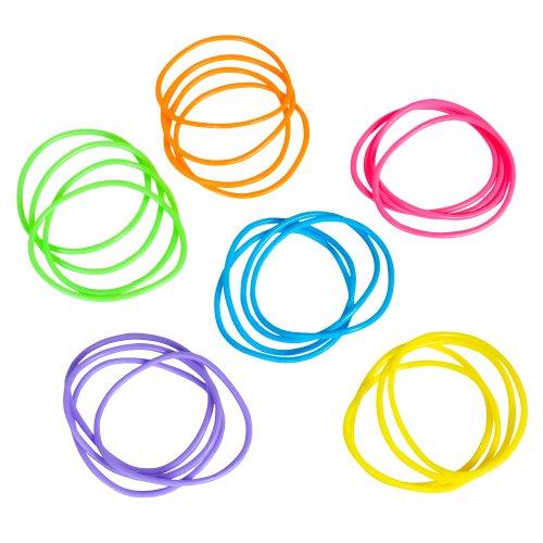 Neon Jelly Bracelets 288 pcs