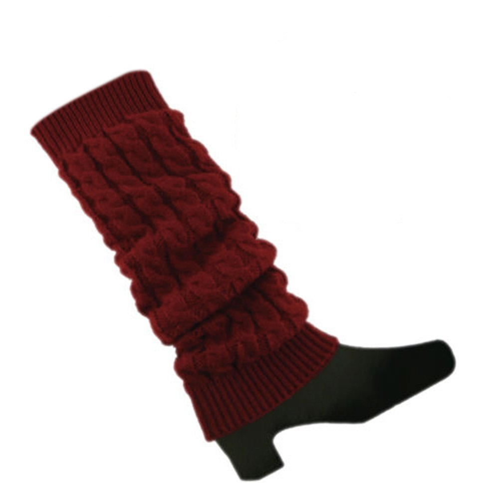 Bodhi2000® Womens Winter Knitted Twist Leg Warmers Knee High Boot Socks Cuffs A200712JFF8J5421