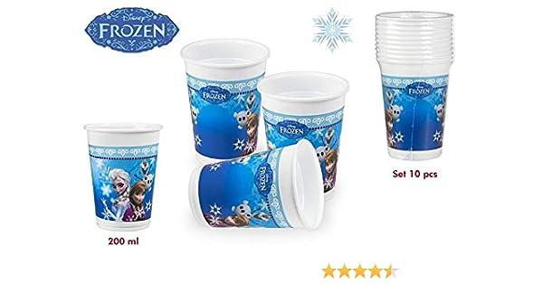 DISOK - Pack 10 Vasos Frozen 200 Ml - Vasos Cumpleaños Fiestas ...