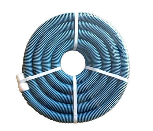 "EZ SPARES Swimming Pool Hose,1.5"" x 35ft,Duty In-Ground Pool Vacuum Hose,Premium Quality Blue&Black Spiral"