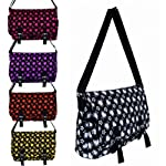 Ladies Satchel Bag Girls Shoulder Across Body Handbag School College Hearts - luggage