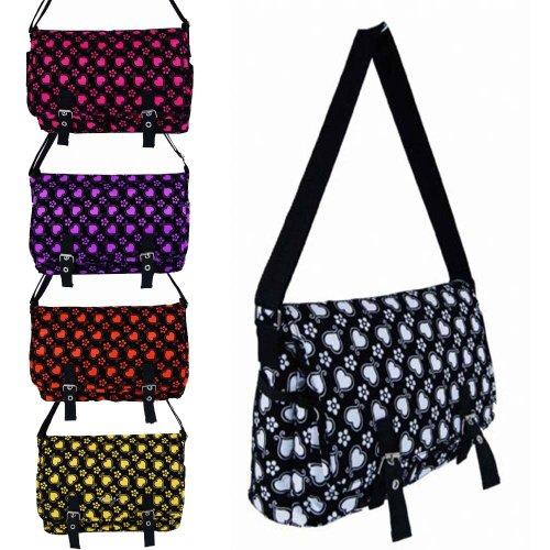 Ladies Satchel Bag Girls Shoulder Across Body Handbag School College Hearts