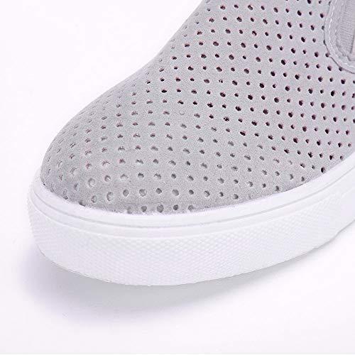 Dcontractes Pour De Plates Femmes Plates Mocassins Femmes Course Izhh Bottes Chaussures Et Plein En Air Gris Solides Baskets zxqgdv4q