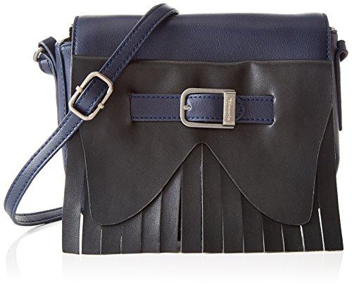 Tamaris Prima Saddle Bag, Sacs Portés épaule Femmes Bleu - Blau (Navy Comb 890)