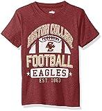 NCAA Boston College Eagles Children Boys Short Sleeve Blend Tee,6,Wine Blend