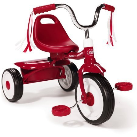 Radio Flyer Ready To Ride Folding Tricycle, Red / Controlled turning radius
