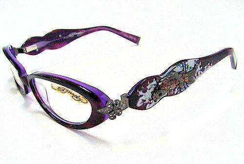 ED HARDY EHO709 Eyeglasses Vintage Tattoo EHO-709 Lavender/Lake ...